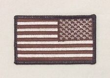 US United States American Flag patch REVERSE SUBDUED Desert Tan Iron On