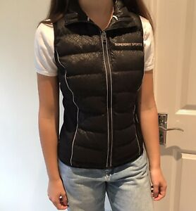 Superdry Sport Quilted Black Gilet XS
