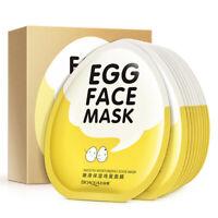 Facial Skin Care Face Mask Korean Cosmetics Eggs Brightening Skin 10 sheets/box