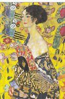 GUSTAV KLIMT Woman w/ fan Vienna Secession Art Nouveau Russian modern postcard