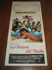 LOCANDINA,LA VEDOVA DEL TRULLO-ROSA FUMETTO,1979,MONTAGNANI,GIUFFRE'