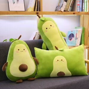 Cute Fruit Avocado Plush Toy Sofa Decor Bed Pillow Cushion Stuffed Soft Doll