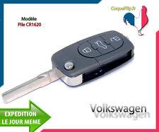 Coque Télécommande Plip 3 Boutons Volkswagen Polo Passat Golf 3 4 5 6+Clé Vierge