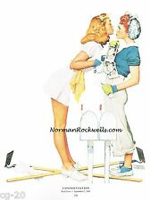 "Norman Rockwell print ""CONFRONTATION""/""THE GIRLS BACK HOME"" 11x15"" two-timer"