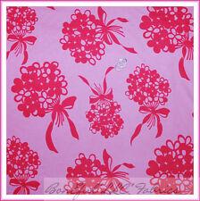 BonEful Fabric FQ Cotton VTG Pink Bright Flower Flamingo Wedding Girl Ribbon Bow