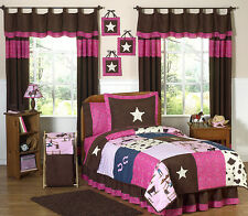 Jojo Pink Brown Western Horse Cowgirl Girl Kid Teen Full Queen Sized Bedding Set