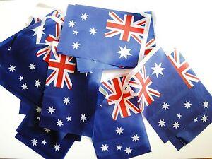 Australia Australian Fabric Bunting 18ft / 5.5m 20 Flags Free 1st Class