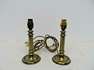 Pair of Brass Table/Side Lamps  D3