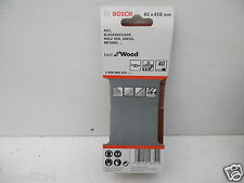 PACK OF 3 BOSCH 65mm x 410mm  SANDER SANDING BELTS 40GRIT   2 608 606 015