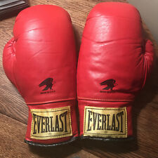 Everlast Yellow Tag Traditional Boxing Gloves 14oz With Thumb Lock Eagle Logo