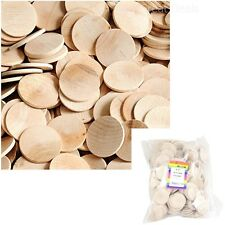 Wooden Circle 200 Pieces Round Disc Wood Jewelry Pin Ornaments Craft Unfinished