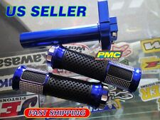 """Blue CNC Aluminum & Grips Throttle handlebar Motorcycle GY6 Scooter Street 7/8"""""""