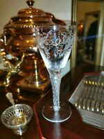 Antique Victorian Air Twist Glass Cordial Tall Shot Antique English Georgian