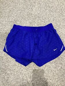 Womens Nike Running Shorts Blue M