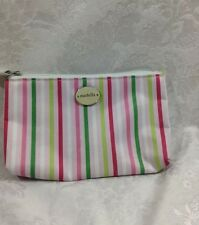 WOMENS MODELLA FASHION FOREVER STRIPED COSMETIC BAG/CASE PREOWNED