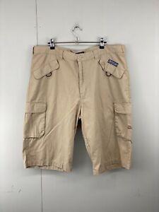 Kappa Men's Casual Zip Close Cargo Long Shorts Brown Size 2XL