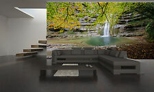 Photo Wallpaper The Park Waterfalls GIANT WALL DECOR PAPER POSTER FOR BEDROOM