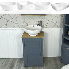 Small Compact Oak Bathroom Modern Vanity Cabinet and Ceramic Basin 308G