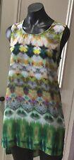 Threads Top Tunic Small  Multi Coloured Sleeveless smart colourful