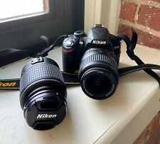 Nikon D3200 24.2 MP Digital SLR Camera w/ 2 Lenses Please Read Description