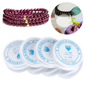 1 Roll Clear Stretch Spool Elastic String Beading Cord Jewelry Bracelet Making