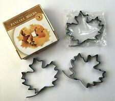 Williams Sonoma 3 Maple Leaf Pancake Molds Non Stick Recipe Card 2003