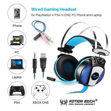 3.5mm Stereo Gaming Headset with Mic LED Headphones Surround For PC Laptop PS4