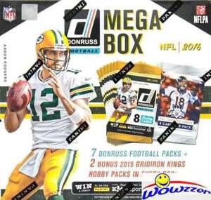 2016 Donruss Football MEGA BOX-7 Packs+BONUS (2) 2015 Gridiron Kings HOBBY Packs