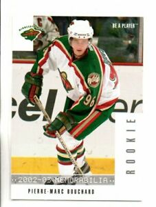2002-03 BE A PLAYER MEMORABILIA PIERRE MARC BOUCHARD ROOKIE