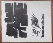 Willi Baumeister - Will Grohmann - Sandberg - Stedelijk museum - 1956