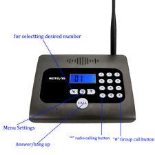 Two-way Desktop Radio Full Duplex Indoor Wireless Voice Calling Intercom System