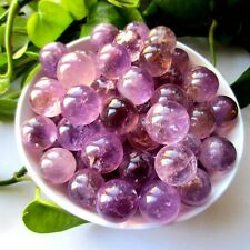 200g 15-19mm NATURAL AMETHYST QUARTZ CRYSTAL SPHERE BALL HEALING