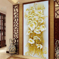DIY 5D Diamond Embroidery Painting Lily Flower Mosaic Cross Stitch Craft Kit KD