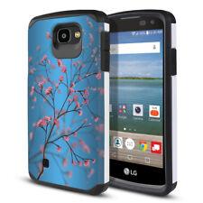 For LG Optimus Zone 3 VS425PP Hybrid Bumper Protective Hard TPU Case Cover + Pen