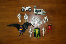 Used Action Figures Set of 10 loose BATMAN and SPACE Action Figures