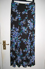 Black Floral Flared Panel Skirt Size 6 Length 39 Marks and Spencer Per Una BNWT