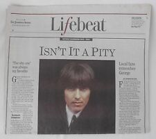 December 1, 2001 Providence Journal (RI) George Harrison 1943-2001 Remembrance