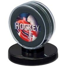 (1) Ultra Pro Hockey Puck Holder Display Case Acrylic With Black Base -BRAND NEW