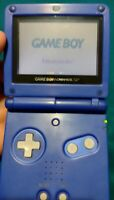 Nintendo Game Boy Advance GBA SP Blue Console AGS-001 Tested With Tetris Game.
