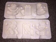 Vintage Dona'S Molds Three Honey Bear Ornaments Porcelain Ceramic Pottery Mold