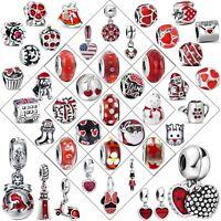 Handmade Genuine Hot Charms Bead For Bracelets Women 925 Sterling Silver Jewelry
