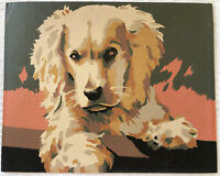 Vintage Cocker Spaniel Dog Puppy Paint by Number 8x10 Painting Unframed