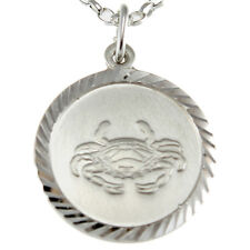 "Cancer Sterling Silver Star Sign - The Crab Zodiac Pendant with 18"" Chain & Box"