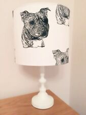 Staffordshire Bull Terrier Dog Print Fabric Lamp