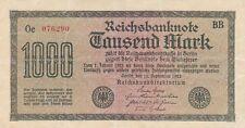 1000 Mark Reichsbanknote Deutsches Reich 15. September 1922