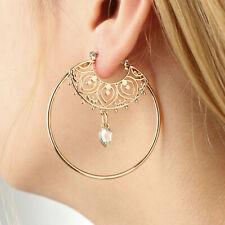 Hoop Earrings Geometric Circle Big Round Dangle Studs Earrings Vintage Jewelry
