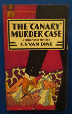 """1955 THE """"CANARY"""" MURDER CASE by S.S. Van Dine Paperback Fawcett T2004 VG"""
