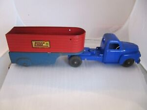 Vintage Marx Lumar Lines Semi Truck and Trailer.