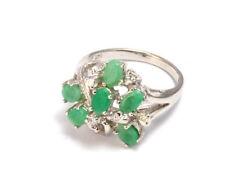 Emerald Cocktail Anniversary Fine Gemstone Rings