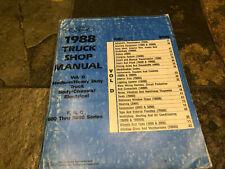 1988 Ford Truck F-600 F-700 B-600 B-700 C-600 Cl-9000 Service Shop Manual Vol D